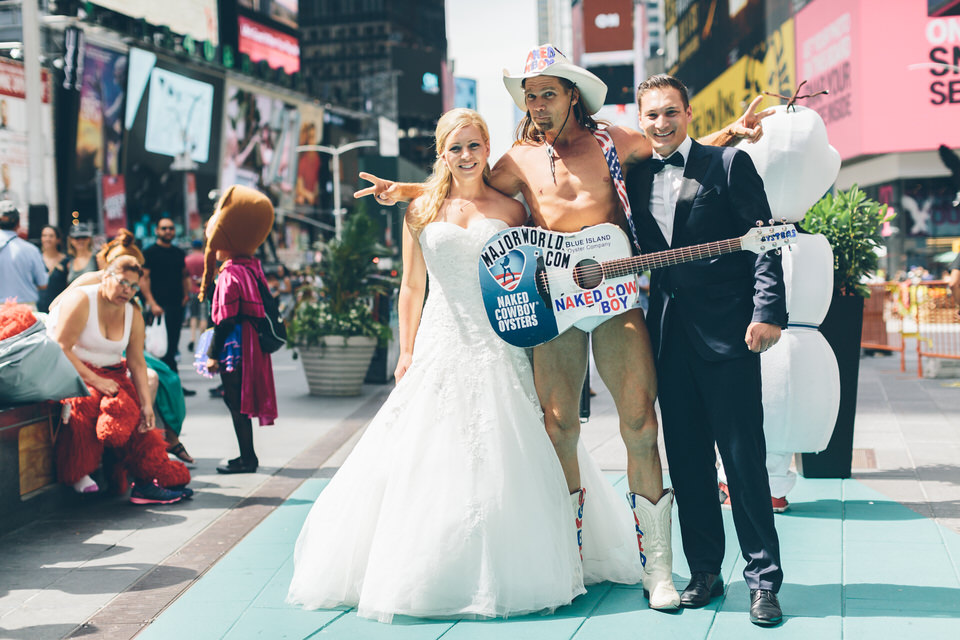 She Was Even Able To Fit Through The Subway Turnstile With Wedding Dress A Huge Smile Tags Brooklyn Bridge Times Square